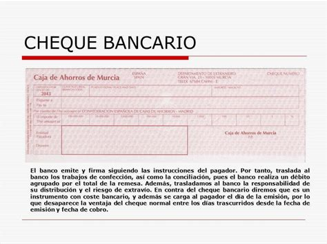 Que Es Layout Bancario   el cheque librador librado banco tenedor orden de pago
