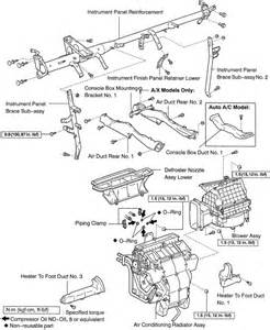 96 toyota camry air conditioner duct diagram repair guides heater removal installation
