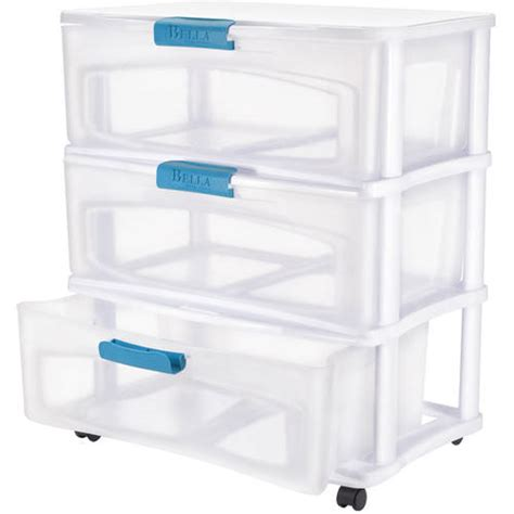 bella 6 drawer storage cart bella 3 drawer wide locking cart with clear drawers and