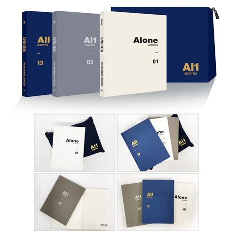 Seventeen Al1 Alone Al1 All seventeen 4th mini album al1 showcase alone note pouch set seventeen hmv books svtnote