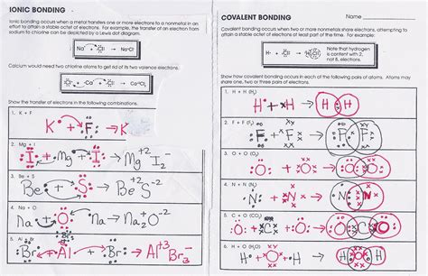 Covalent Bonding Worksheet by 100 Identifying Ionic And Covalent Bonds Worksheet
