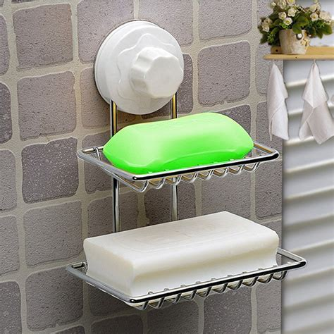 bathroom soap and shoo holder double deck soap dish holder bathroom shower tray with