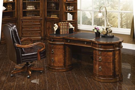 Antique Executive Desk by Executive Desk Antique Cognac Finish 14749