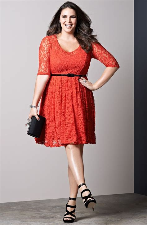 Finding Plus Size With Style And Fit by City Chic Belted Lace Fit Flare Dress Plus Size