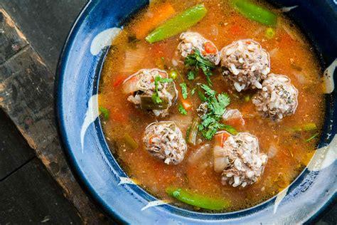 albondigas soup mexican meatball soup recipe simplyrecipes com