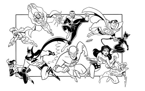 dc justice league coloring page coloring pages