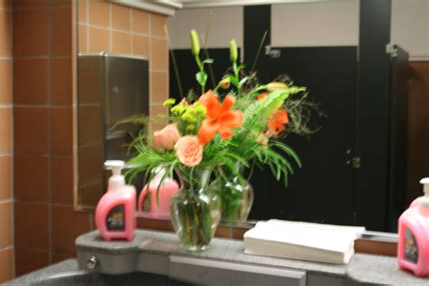flowers in the bathroom fresh flower arrangements in the strangest places