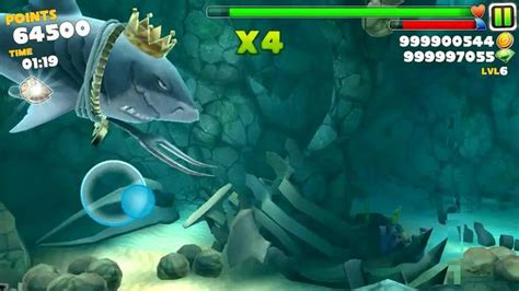 hungry shark apk mod hungry shark evolution v4 2 0 apk mod монеты кристаллы неуязвимость бесплатные покупки