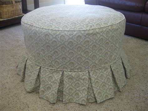 round ottoman slipcover custom slipcovers by shelley round ottoman