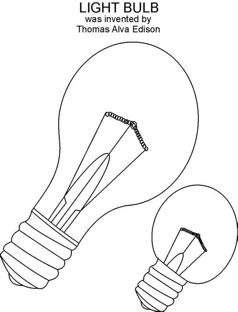 light bulb coloring page free edison light bulb coloring pages