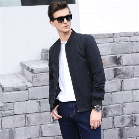 Jaket Bomber Mens Simple Pria Casual mens casual bomber jacket jackets review