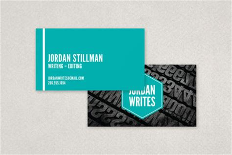 freelance writer business card template inkd