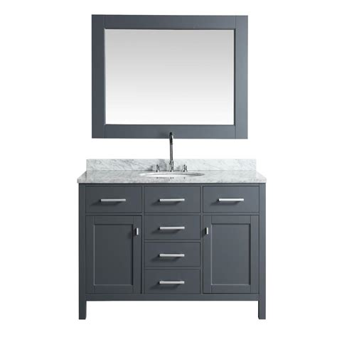 home depot design element vanity design element london 48 in w x 22 in d vanity in gray