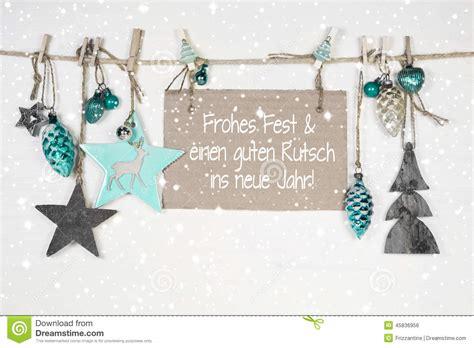 merry christmas   happy  year xmas card  german text stock photo image