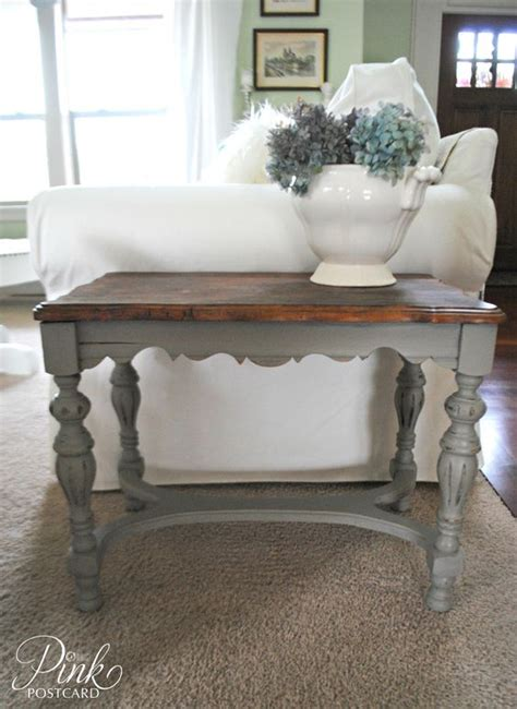 pinterest pictures of yellow end tables with gray annie sloan chalk paint color french linen i think this