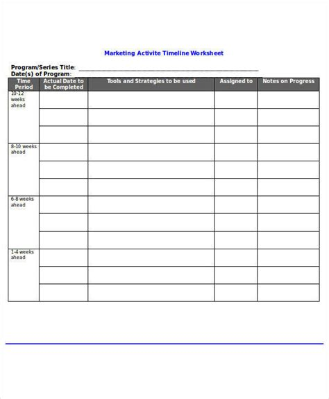 14 Timeline Templates In Word Sle Templates Marketing Timeline Template Word
