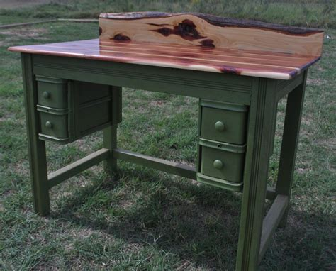 repurposed desk cedar writing desk repurposed antique sewing machine
