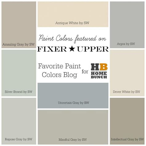 sherwin williams 2017 paint colors paint colors used by chip and joanna gaines 187 home design 2017