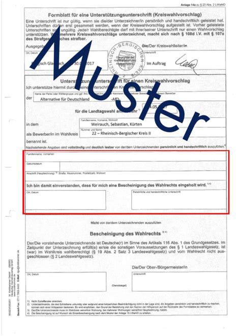 Muster Formular Patientenverfügung Afd Rheinisch Bergischer Kreis