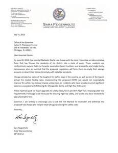 letter to the governor marshal update state