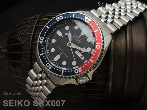 Seiko Diver Skx009 Bracelet seiko diver skx009 on 22mm jubilee 316l stainless steel band for seiko skx007