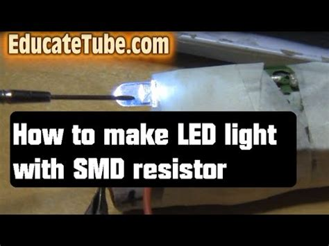 how to make resistor how to make led light with smd resistor using salvage computer electronic circuit parts