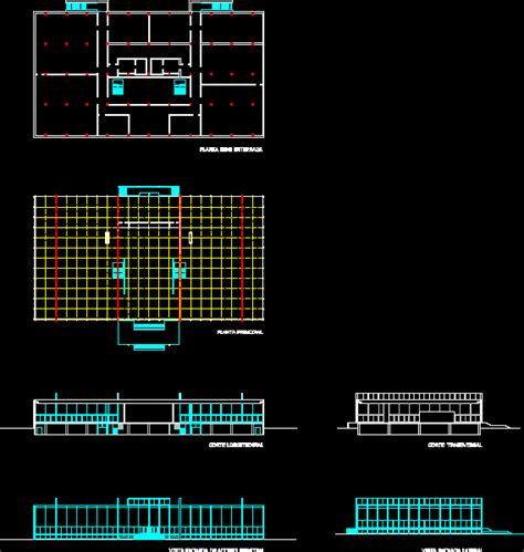 crown hall dwg section  autocad designs cad