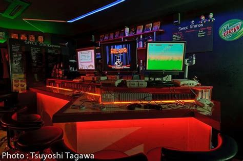 bar top video game video game bar space station osaka japan top tips