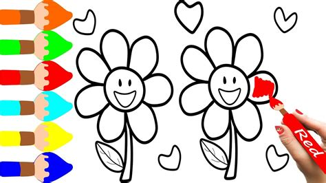 imagenes para dibujar y pintar juguetestv como dibujar y pintar flores dibujos para