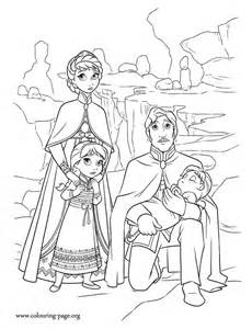 frozen royal family coloring