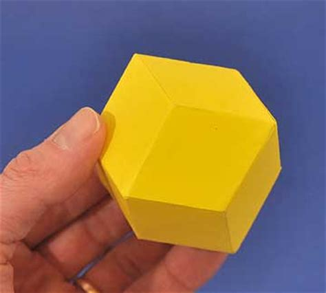 How To Make A Paper Dodecahedron - how to make a rhombic dodecahedron out of paper