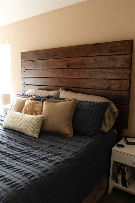 Easy Diy Headboard Easy Diy Wood Plank Headboard Do It Yourself Ideas
