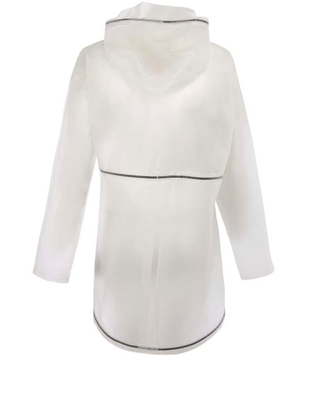 White Smock Jacket by Lyst White Clear Hooded Vinyl Smock Jacket In White