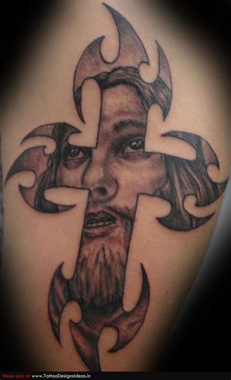 tribal jesus tattoo tribal jesus cross www pixshark images