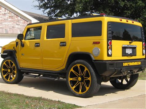 hummer h2 lifted yellow image 68