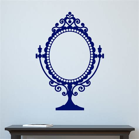 decorative mirror decals decorative vintage mirror design wall sticker decal ebay