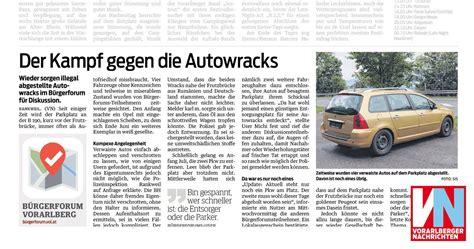 Auto Verschrotten Vorarlberg by Der Kf Gegen Die Autowracks Vorarlberger Nachrichten