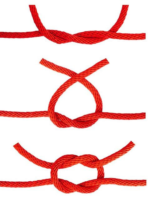 How To Tie A Macrame Square Knot - how to tie a square knot survival skills survival and