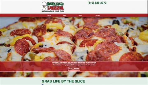 besta fasta pizza marion avenue drive thru website design besta fasta pizza spire advertising web