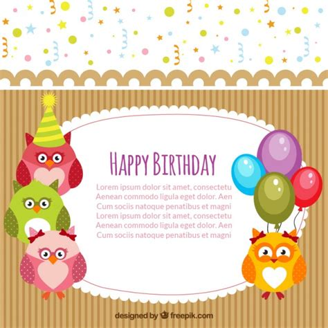 happy birthday card template free happy birthday card template vector free