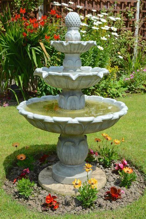 home garden fountain stock image image  seasonal