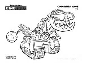 Dinotrux Ty Coloring Page Printable Pages Crafts Sketch sketch template