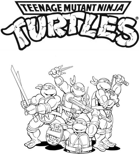 free coloring pages of tmnt youir