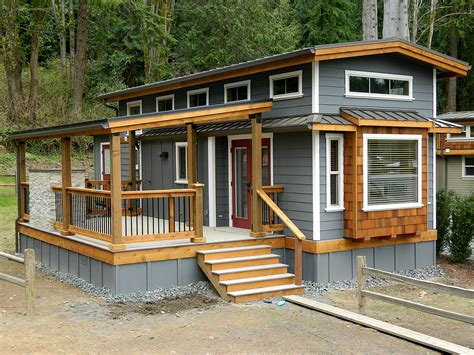tiny house with deck wildwood lakefront cottages park models west coast homes