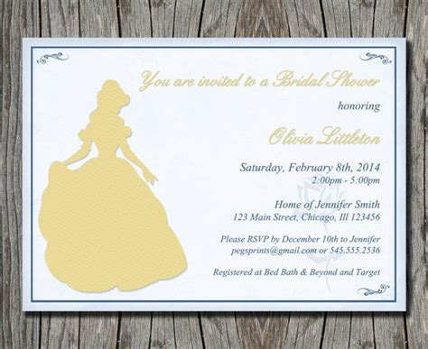 And The Beast Bridal Shower by Disney S And The Beast Bridal Shower Invitation Printable