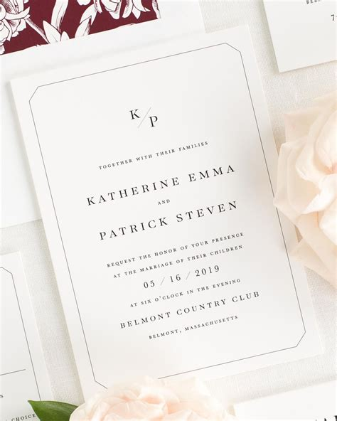 Wedding Invitation Collections by Katherine Wedding Invitation Collection Shine Wedding