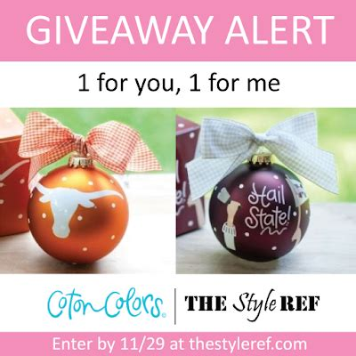 College Sports Giveaways - giveaway coton colors holiday ornaments the style ref the fashion authority for