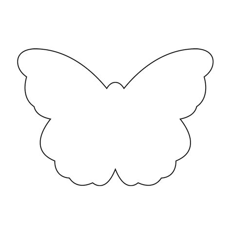 shape template butterfly outline butterfly templates printable crafts