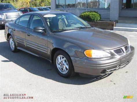 pontiac grand am 2001 2001 pontiac grand am se sedan in bronzemist metallic