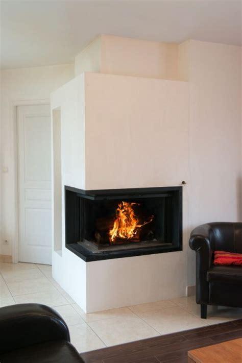 cheminee contemporaine suspendue cheminee d angle moderne